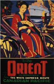 Vintage Travel Poster Canadian Empress Cruise Ship